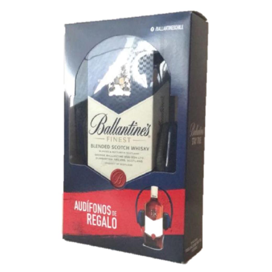 Whisky Ballantines Finest 750cc + Audífonos de Regalo