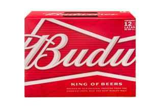 12x Cerveza Budweiser en Latas 355cc