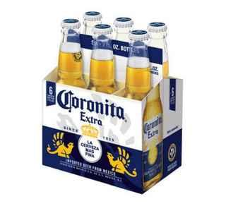 6x Cerveza Coronita Extra en Botella 207cc