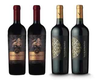 2x Vino Bestia Negra Cabernet Sauvignon 750c + 2x Vino Veramonte Carmenere Reserva 750cc