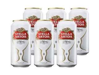 6x Cerveza Stella Artois en Latas 473cc