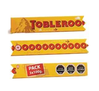 Chocolate Toblerone 300 Gramos (Pack 3 Unidades de 100 Gramos)