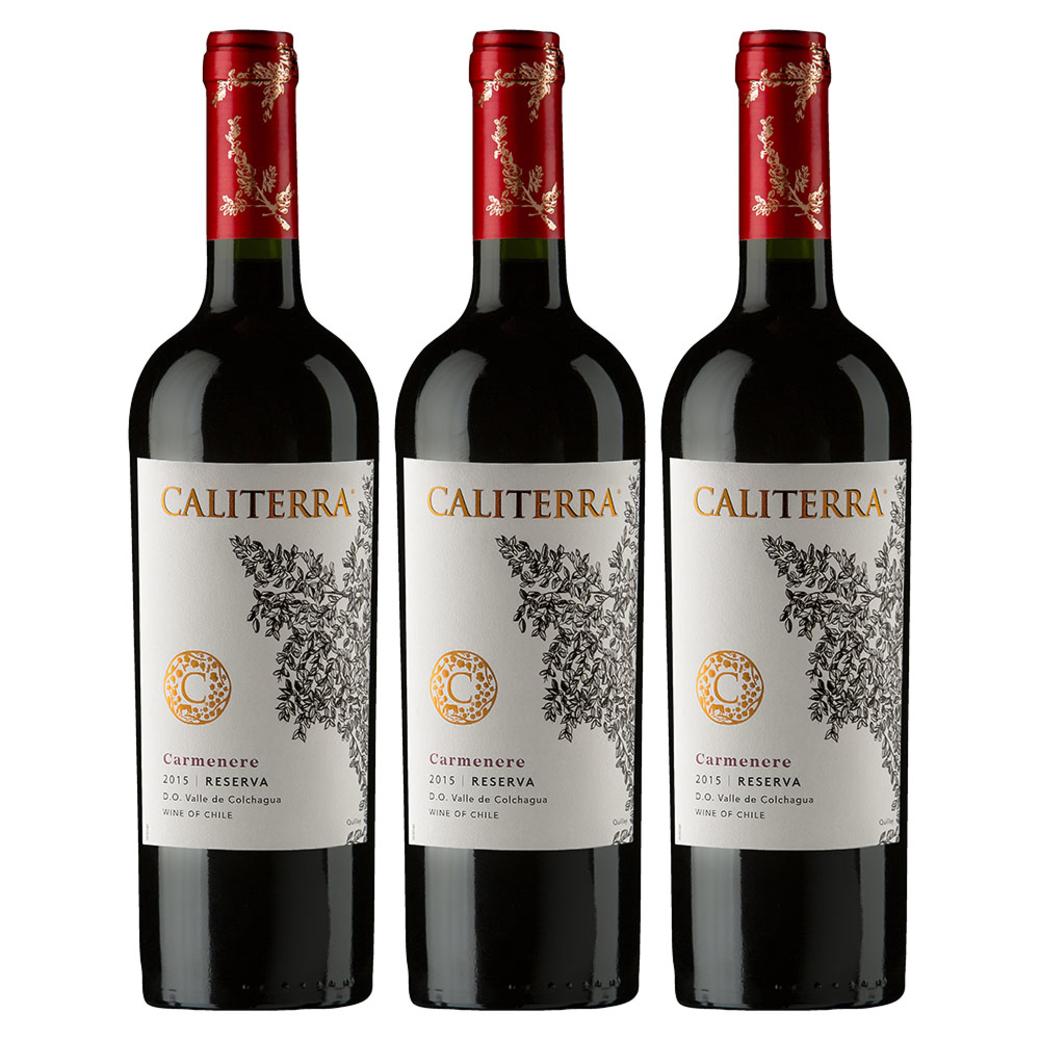 3x Vino Caliterra Reserva Carmenere 750cc