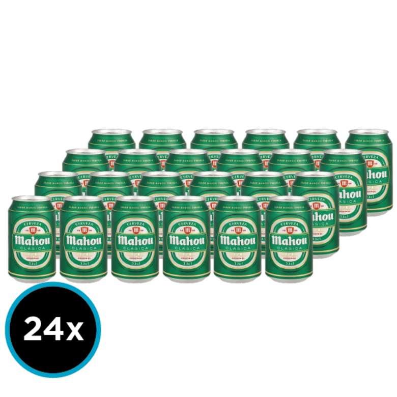 24x Cervezas Mahou Clásica en Lata 330cc