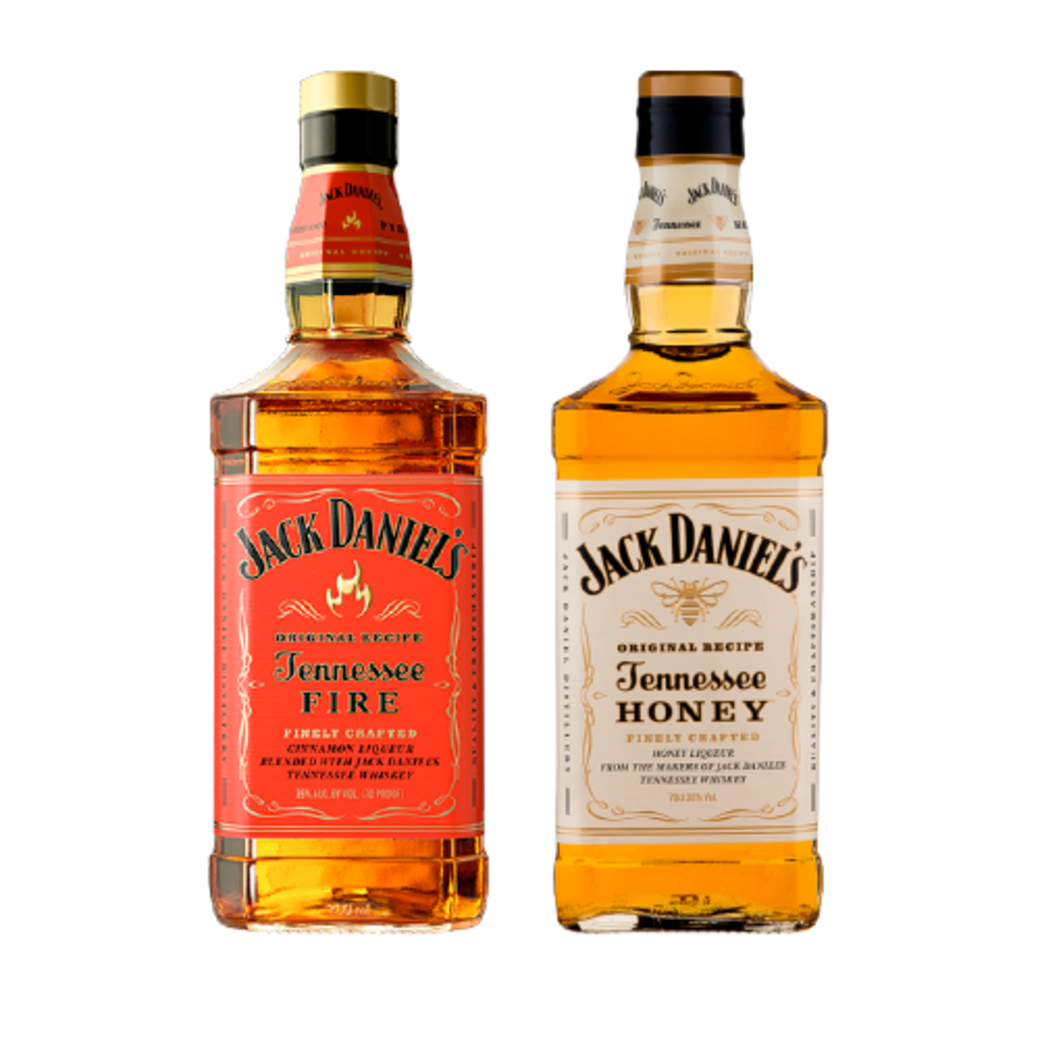 Jack Daniels Tennessee Fire 750cc + Jack Daniels Tennessee Honey 750cc