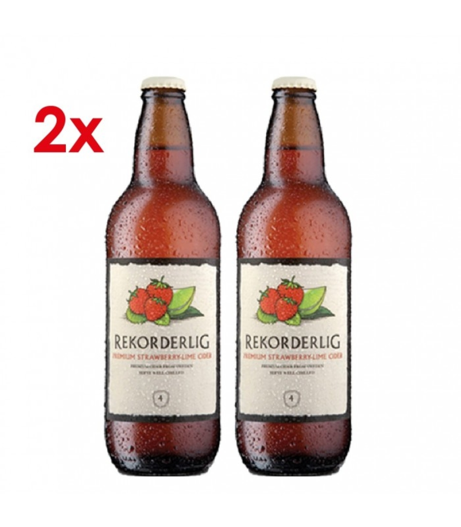 2x Rekorderlig Strawberry-Lime 500cc