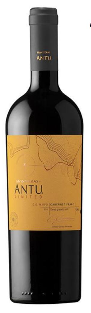 Vino Montgras Antu Limited Cabernet Franc 750cc