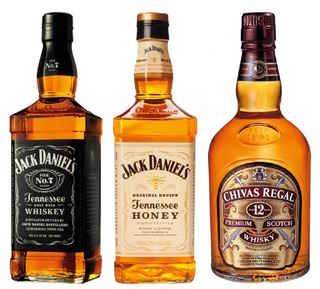 Jack Daniels N7 750cc + Jack Daniels Honey 750cc + Chivas Regal 12 años 750cc