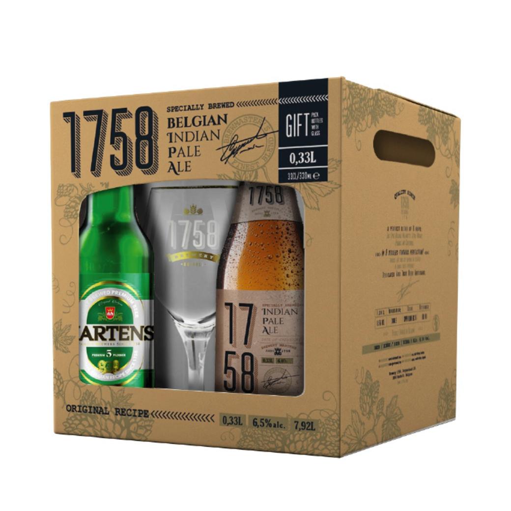 Pack Cervezas 1758: 4 Cervezas + Copa 1758