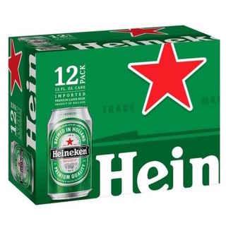 12x Cerveza Heineken en Lata 350cc 5º alc.