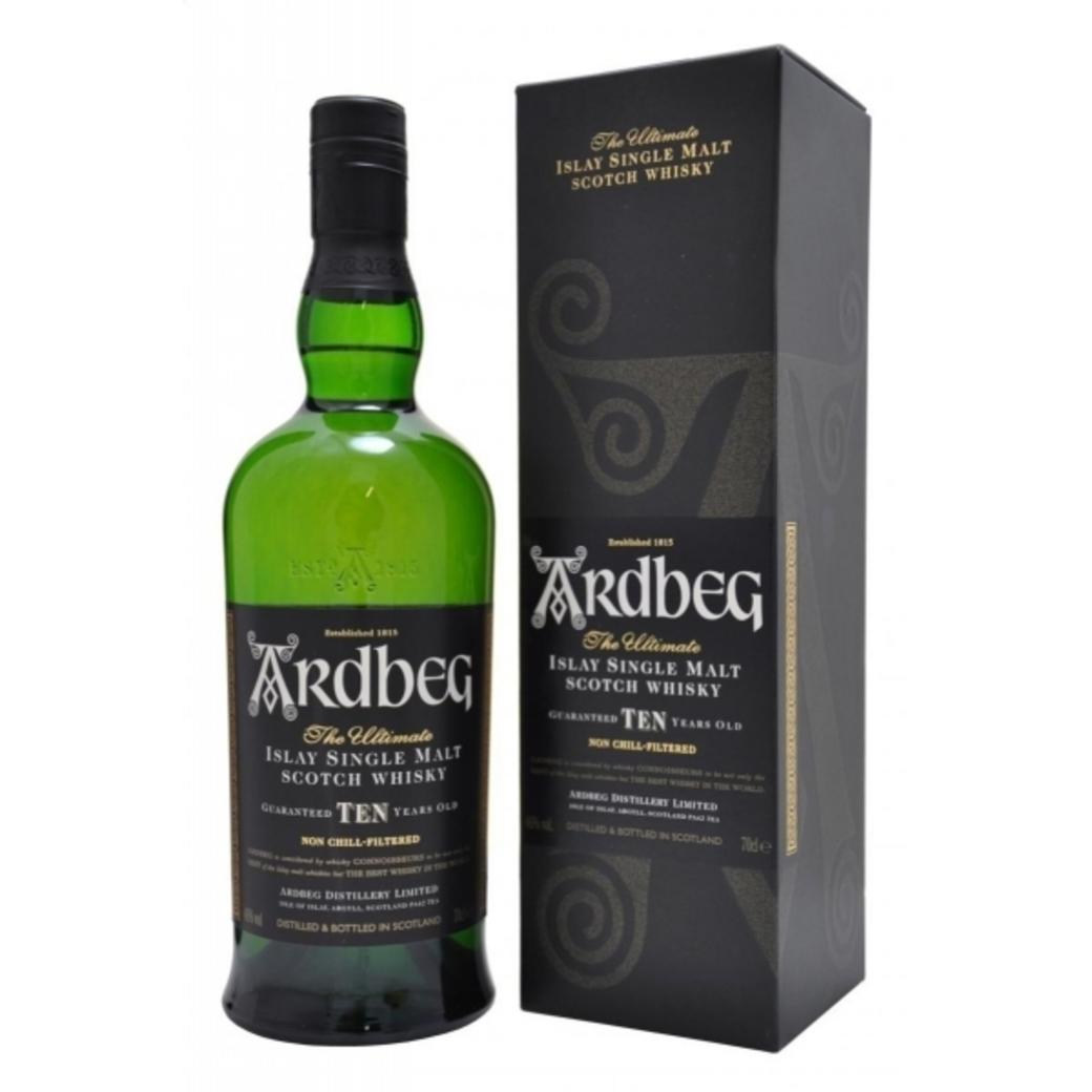 Whisky Ardbeg 10 años 700cc 46º alc.