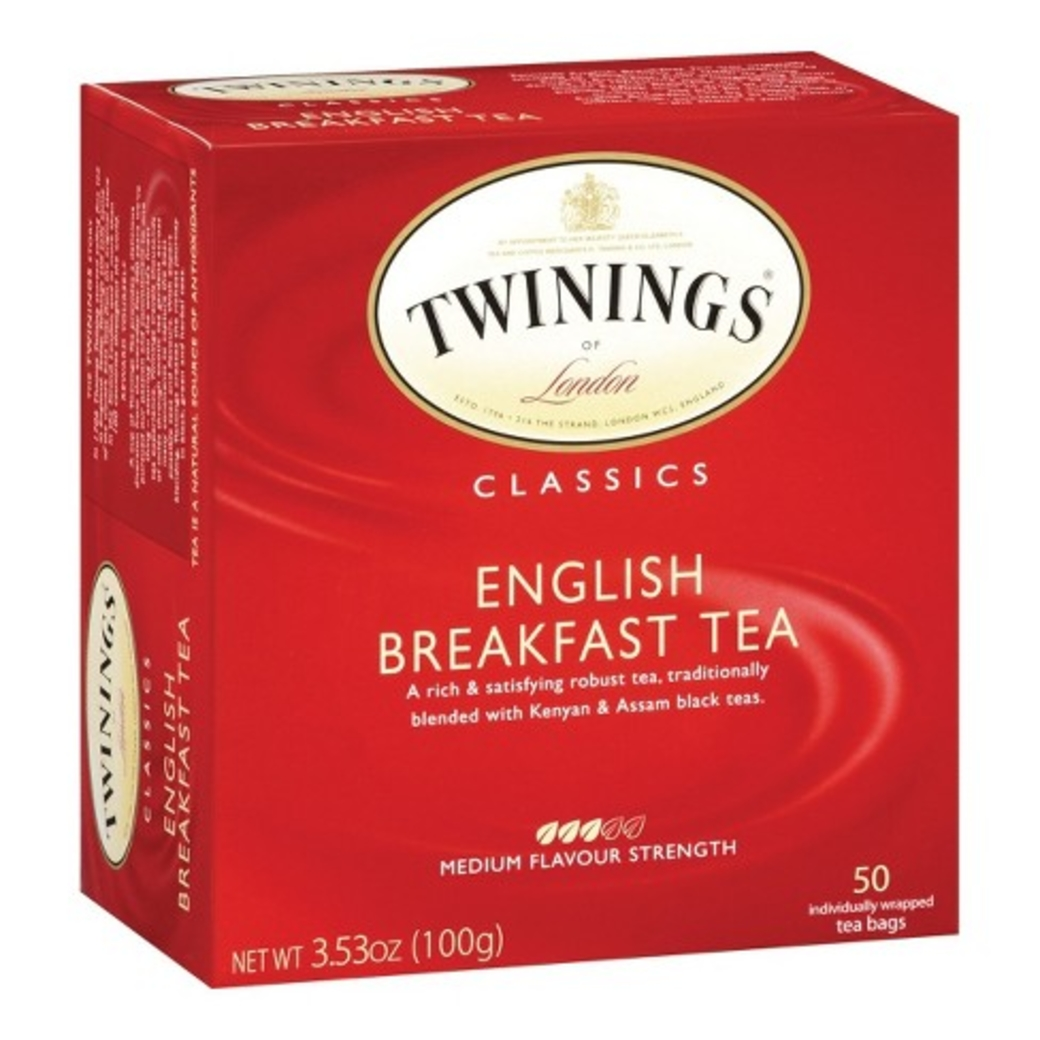 Té Twinings English Breakfast 50 Bolsitas