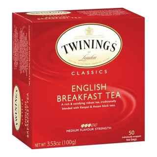 Té Twinings English Breakfast 50 Bolsitas