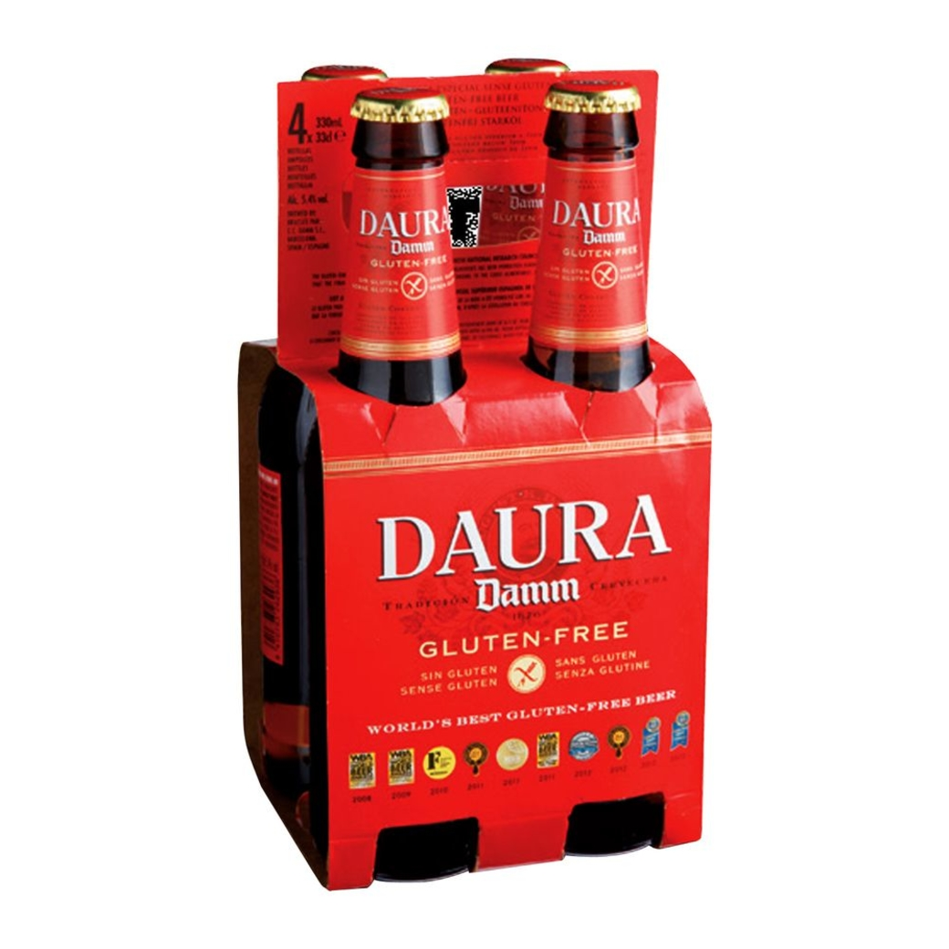 4x Cerveza Daura Gluten Free (Sin Gluten) en Botellas 330cc