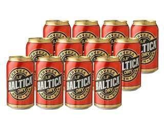 12x Cerveza Baltica en Lata 350cc