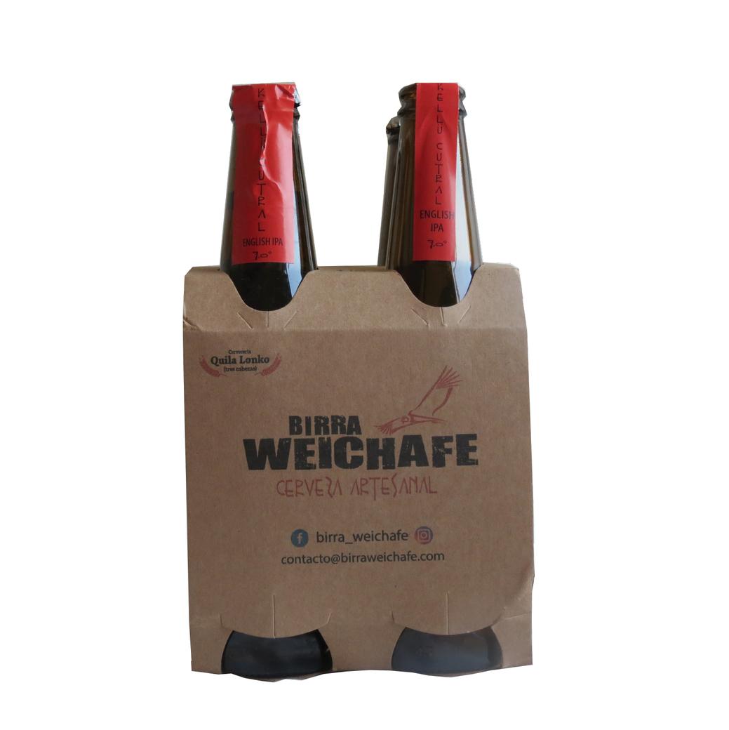 4x Birra Weichafe Kellu Cutral IPA 330cc