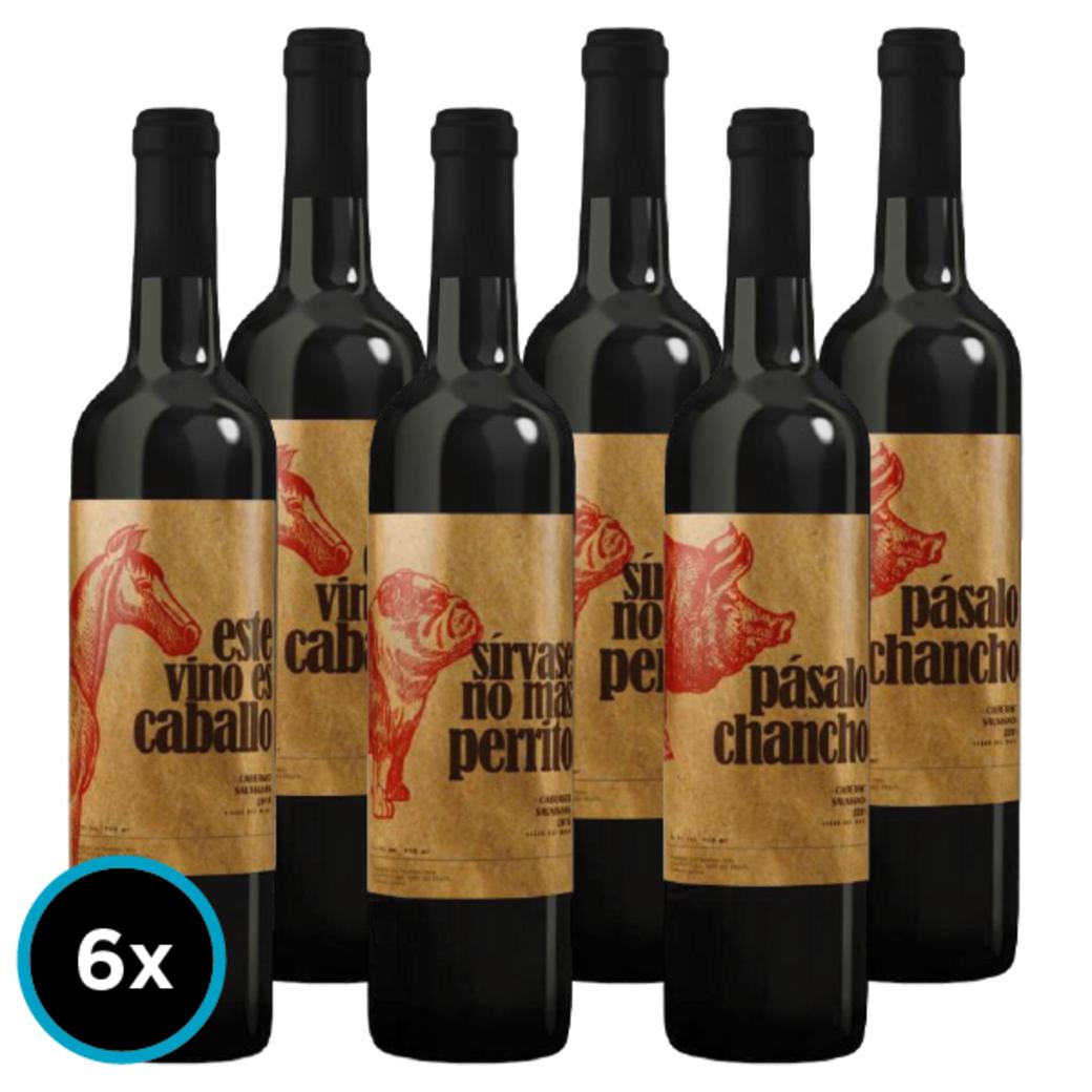 6x Vinos Animales Gran Reserva 750cc
