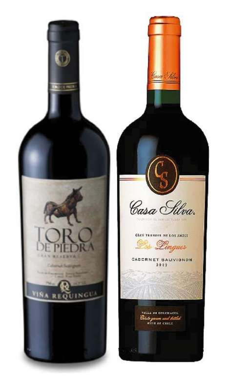PACK DUO VINOS Nº2: Vino Toro de Piedra Cabernet 750cc + Vino Casa Silva Gran Terroir Cabernet 750cc