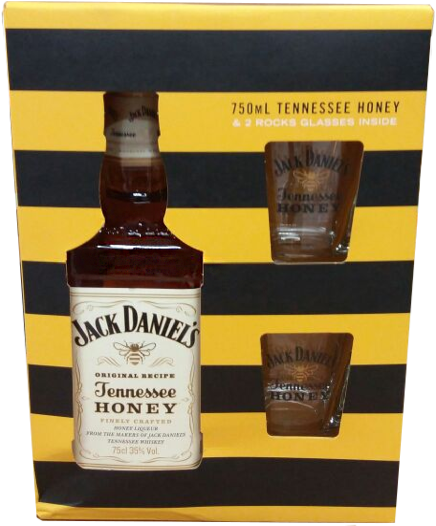 Jack Daniels Honey 750cc + 2 Vasos!