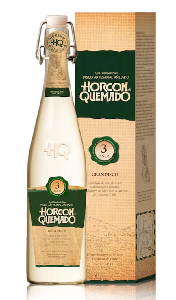 Pisco Horcón Quemado 3 Años 645cc 46º alc.