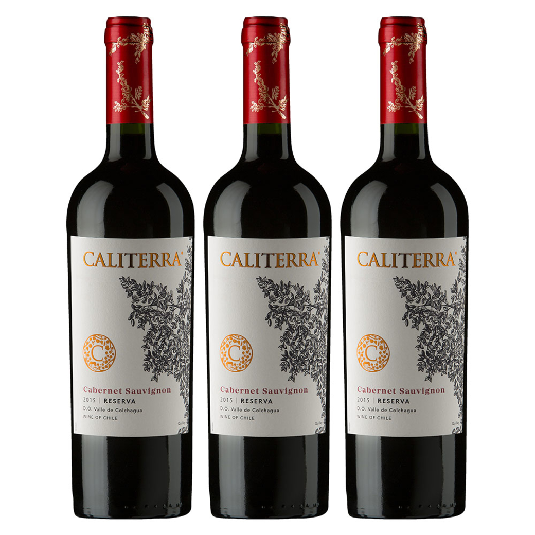 3x Vino Caliterra Reserva Cabernet Sauvignon 750cc