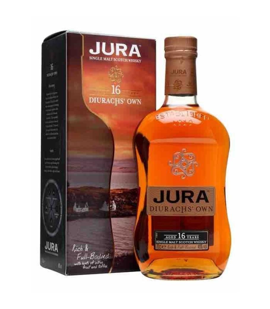 Whisky Jura 16 años 700cc 40º alc.