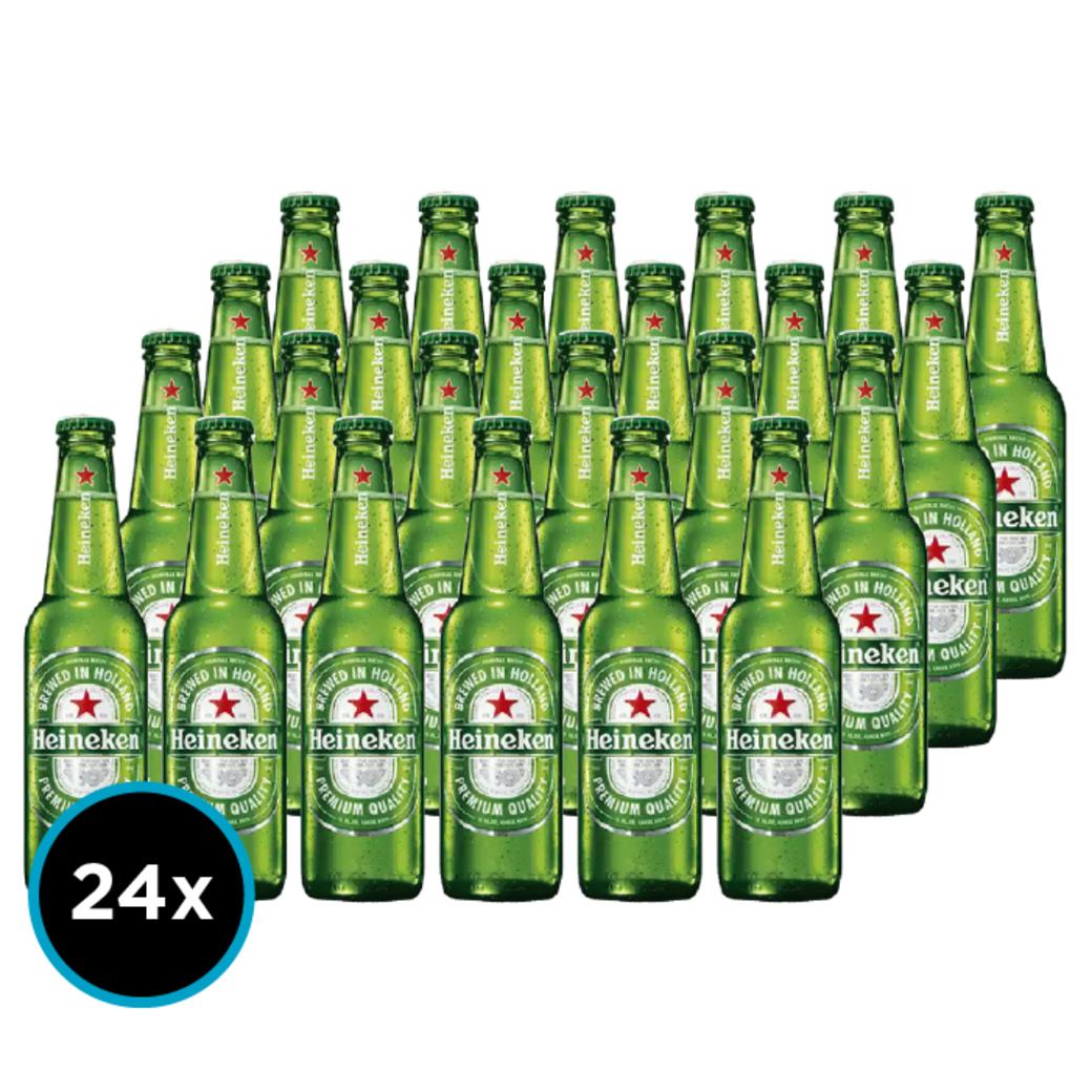 Pack 24x Cervezas Heineken en Botellas Long Neck 330cc