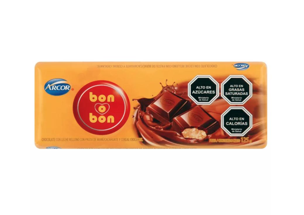 Tableta Bon o Bon Chocolate 125 Gramos