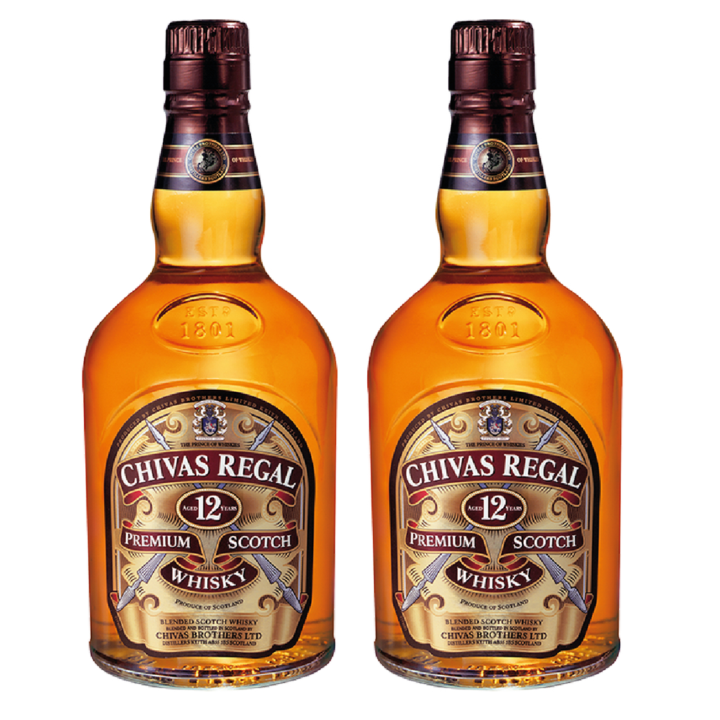 2x Whisky Chivas Regal 12 Años 750cc