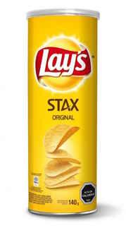 Papas Lays Stax Original 140 gramos