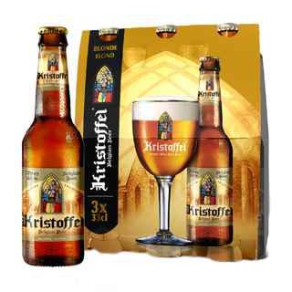 3x Cerveza Kristoffel Belgian Blonde en Botellas 330cc