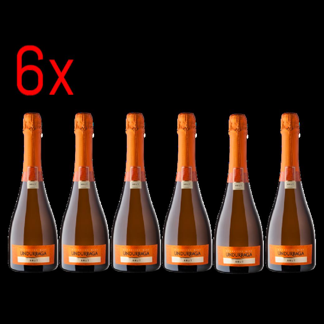 6x Undurraga Brut Champagne 750cc