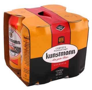 4x Cerveza Kunstmann Lager Lata 355cc