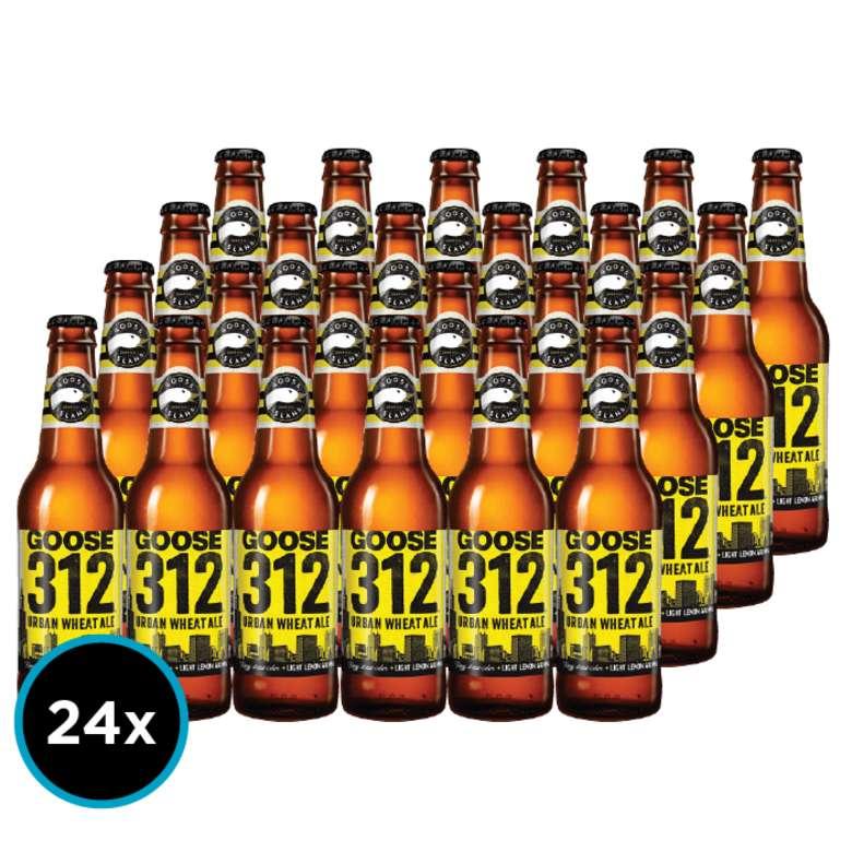 24x Cerveza Goose Island 312 Urban Wheat Ale en Botellas 355cc