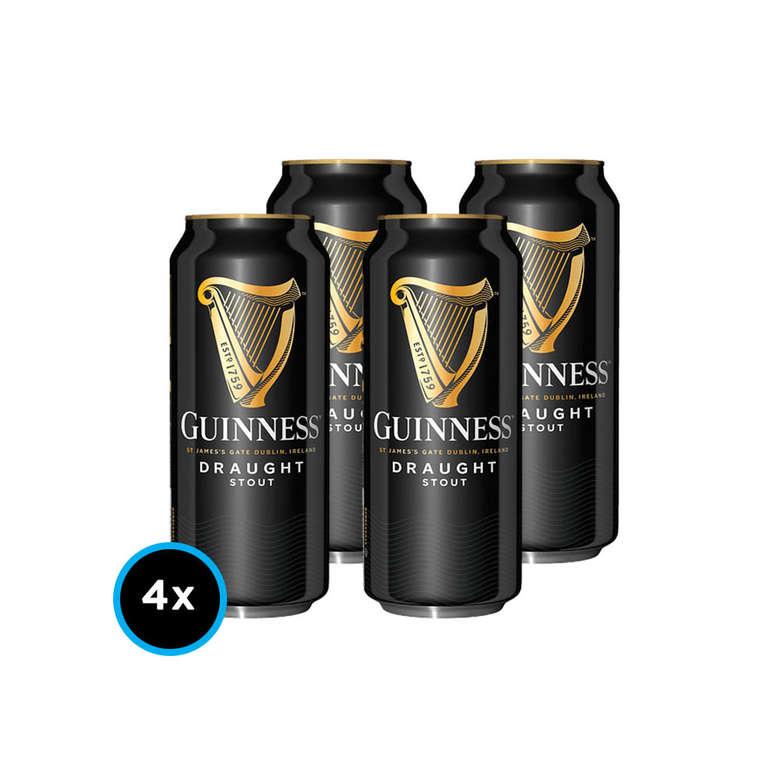 Pack x4 Cerveza Guinness Draught Stout en Lata 440cc