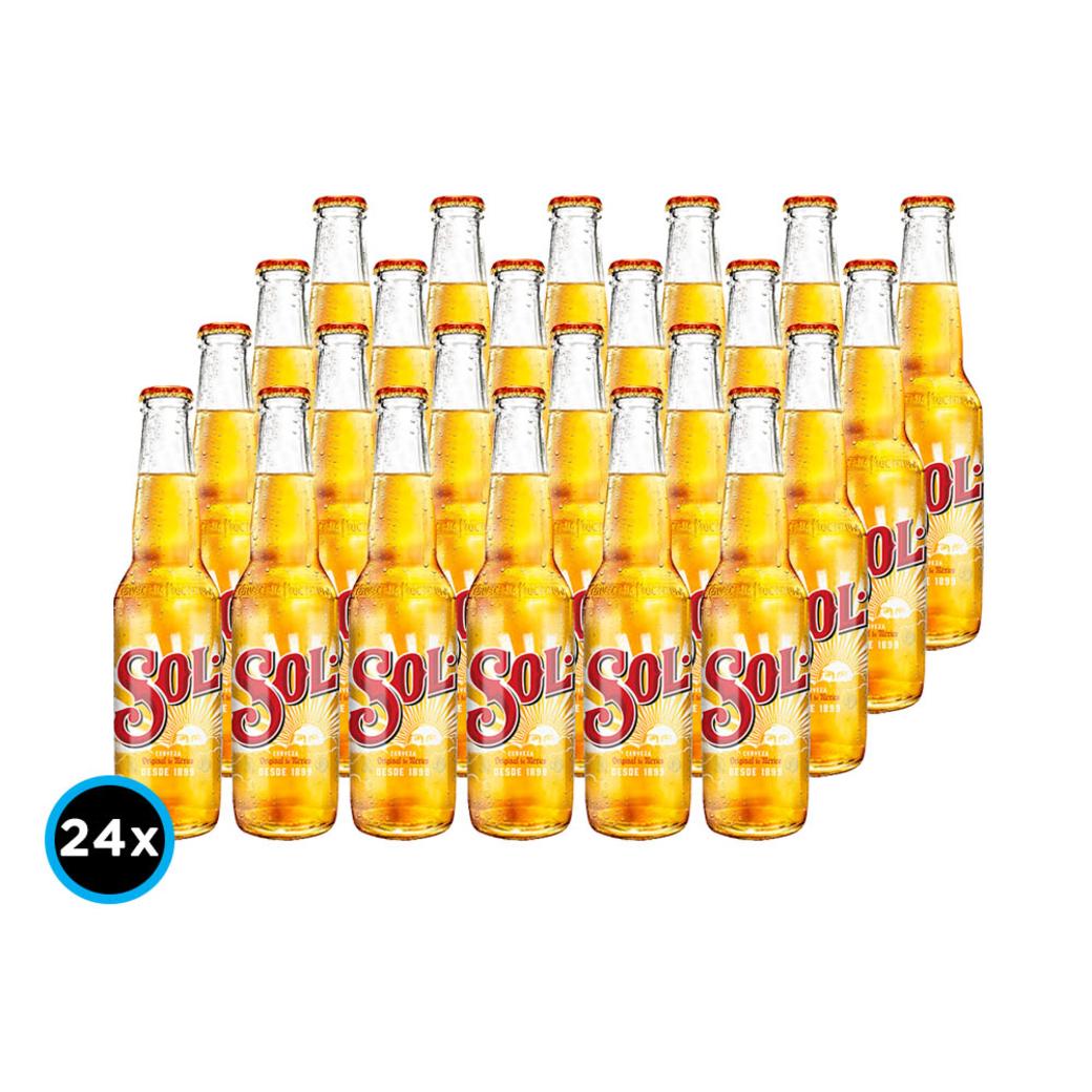 24x Cerveza Sol en Botellas 330cc