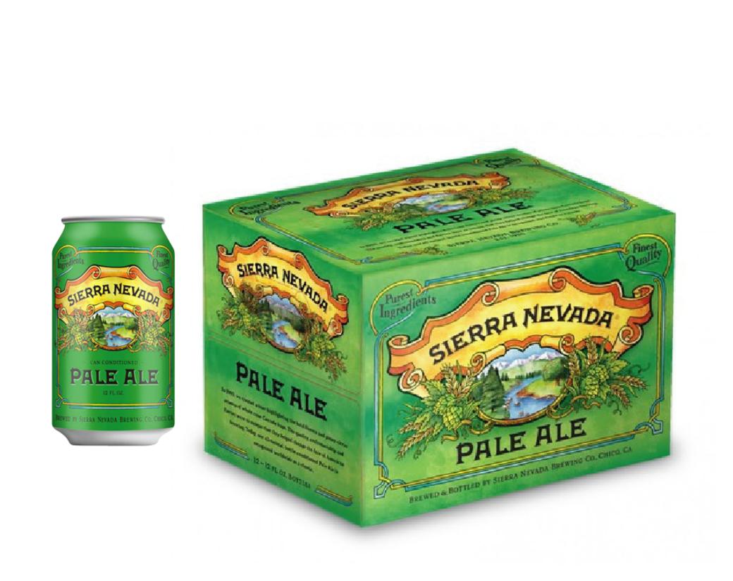 12x Cerveza Sierra Nevada Pale Ale en Latas 355cc