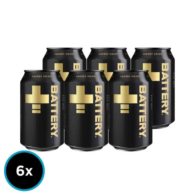 6x Bebida Energetica Battery en Latas 330cc