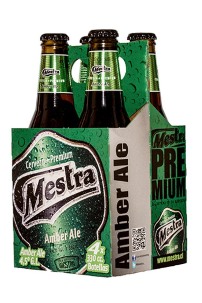 4x Cerveza Mestra Amber Ale en Botellas 330cc