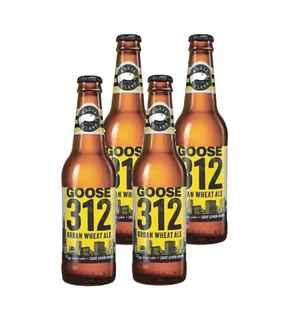 4x Cerveza Goose Island 312 Urban Wheat Ale en Botellas 355cc