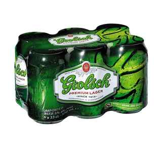 6x Cerveza Grolsch en Latas 330cc