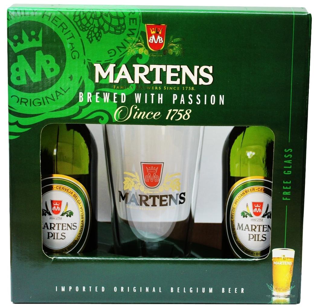 Pack Martens: 2x Cerveza Martens en Botellas 330cc + Vaso Martens