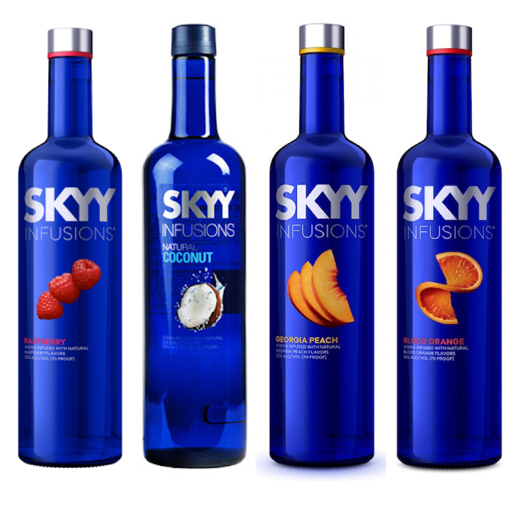 Pack Skyy Vodka: Raspberry + Coconut + Peach + Blood Orange