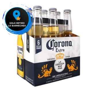 [LO BARNECHEA] 6x Cerveza Corona Extra en Botellas 355cc