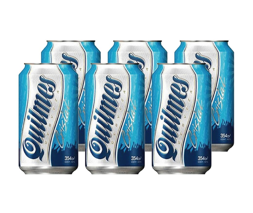 6x Cerveza Quilmes en Latas 350cc