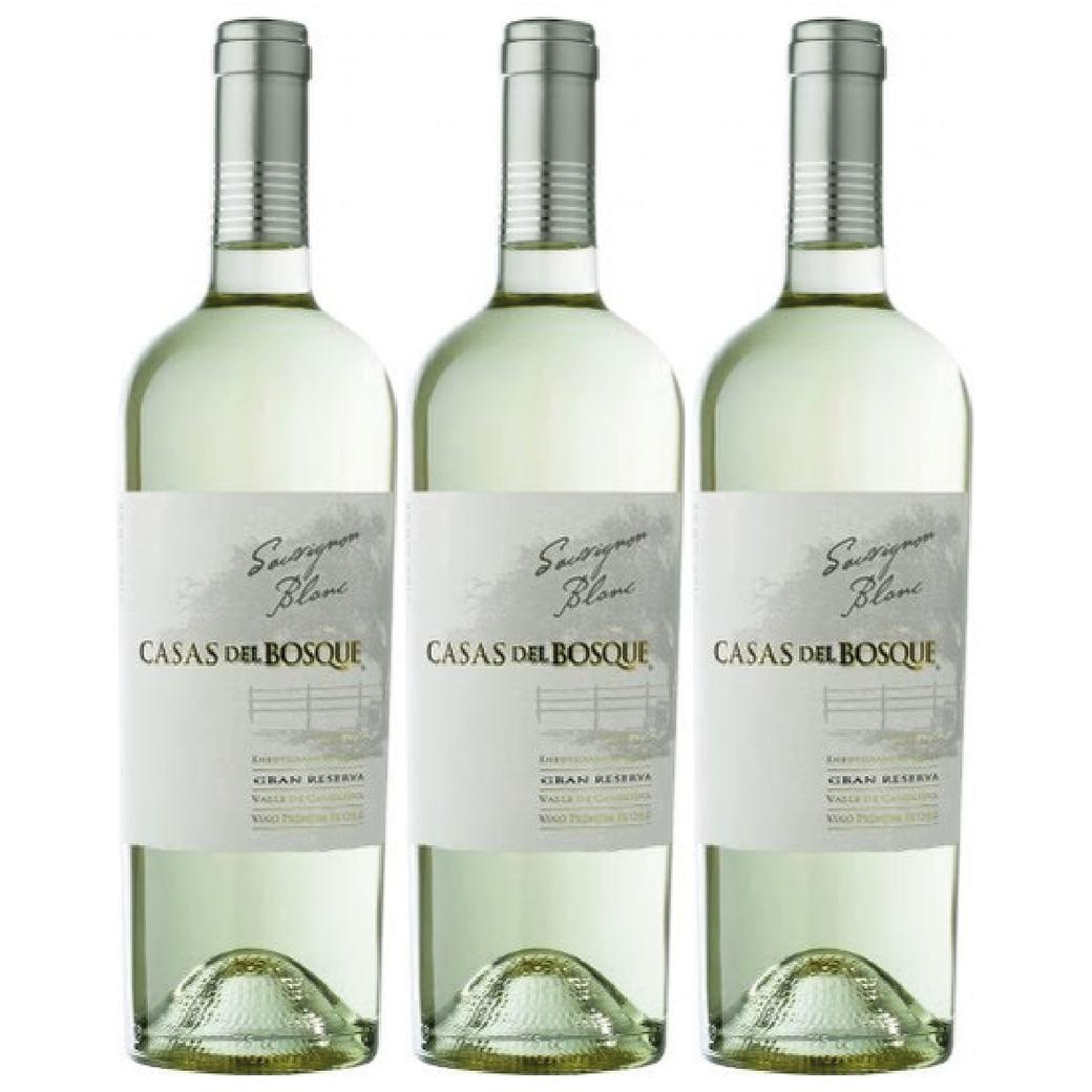 3x Vino Casas Del Bosque GR Sauvignon Blanc 750cc