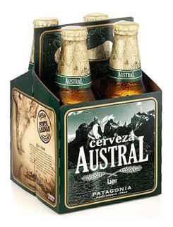 4x Cerveza Austral Lager en Botellas 330cc