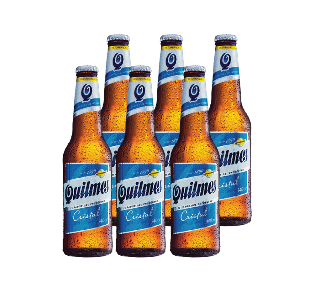6x Cerveza Quilmes en Botellas 340cc