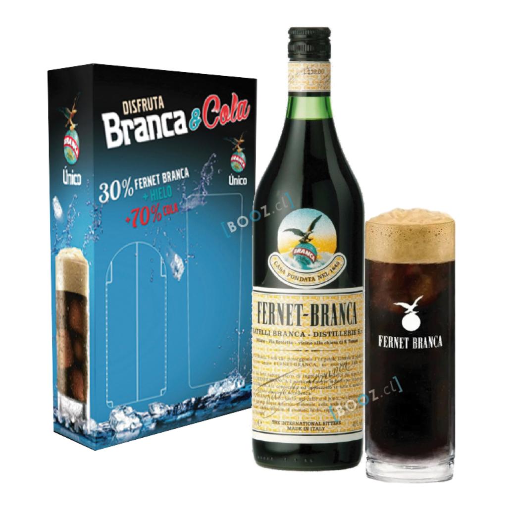 PACK FERNET: Fernet Branca 750cc + Vaso Fernet