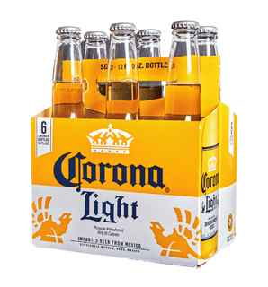 6x Cerveza Corona Light en Botellas 355cc